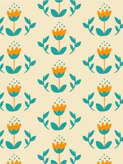 Teste padrão de flor abstrato