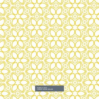 Teste padrão de flor amarelo bonito no fundo branco