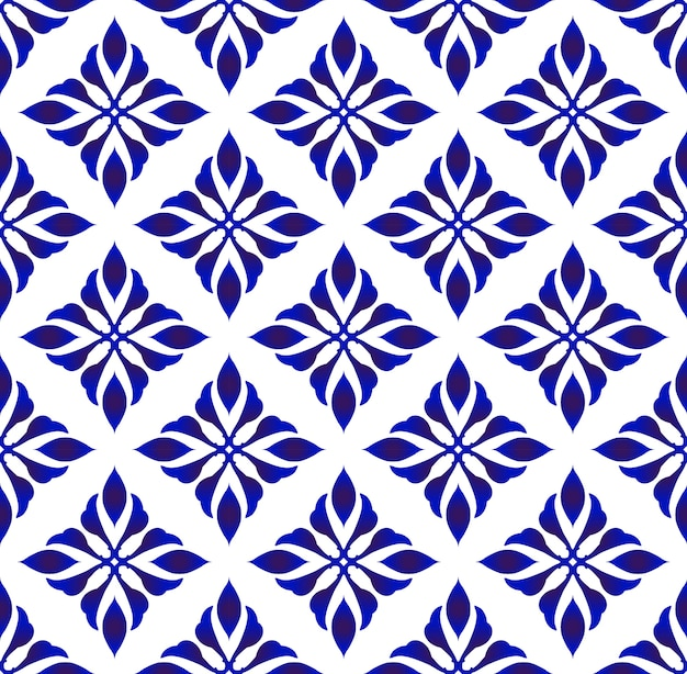 Teste padrão de flor azul