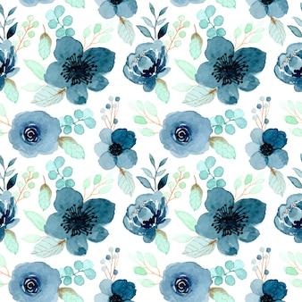 Teste padrão de flor de índigo aquarela