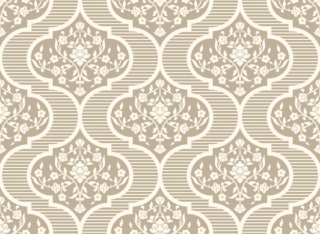 Teste padrão de flor decorativa