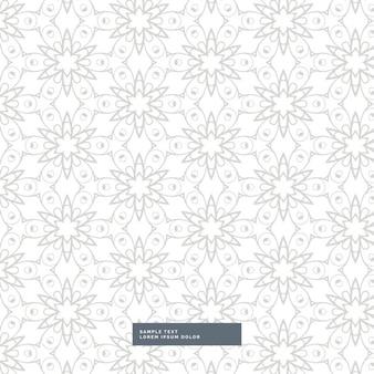 Teste padrão de flor elegante no fundo branco