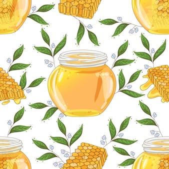 Teste padrão de flor mel
