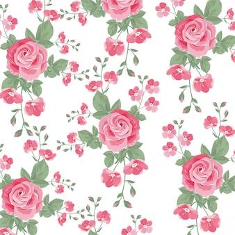 Teste padrão de flor rosa linda