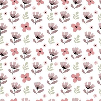 Teste padrão de flor sem costura em tons pastel.