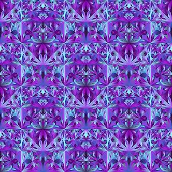 Teste padrão de flor sem costura poligonal