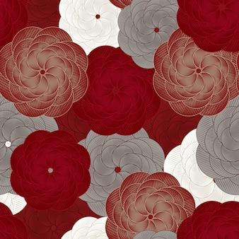 Teste padrão de flor sem costura