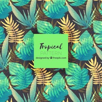 Teste padrão de flor tropical