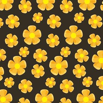 Teste padrão de flores amarelas