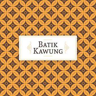 Teste padrão de kawung do javanese batik