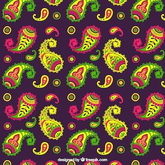 Teste padrão de paisley colorido