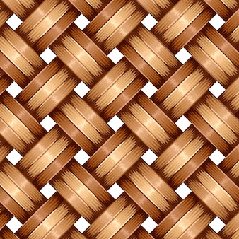 Teste padrão de tecelagem de madeira de bambu, superfície natural da textura do vime.