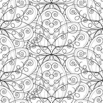 Teste padrão decorativo com ornamento floral geométrico abstrato, padrão sem emenda. formas criativas em fundo branco. elementos de textura modernos