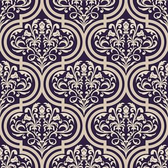 Teste padrão decorativo do damasco