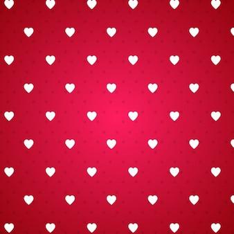 Teste padrão do coração dos namorados