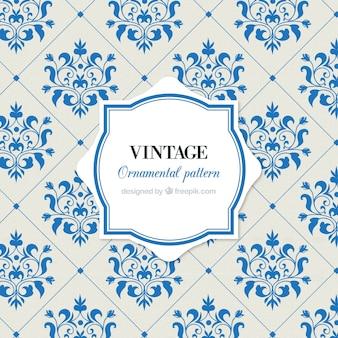 Teste padrão do vintage de azulejos com flores
