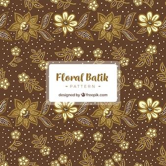 Teste padrão do vintage de flores batik