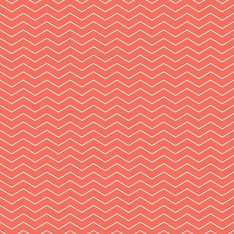 Teste padrão em ziguezague na cor living coral. fundo geométrico abstrato. cor do ano 2019. ilustração de estilo luxuoso e elegante