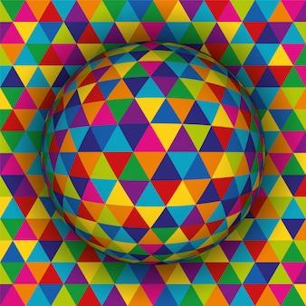 Teste padrão esférico colorido do fundo 3d.