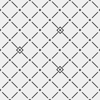 Teste padrão feito com cruzes