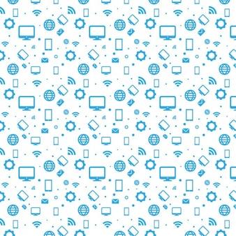 Teste padrão feito de ícones de conexão