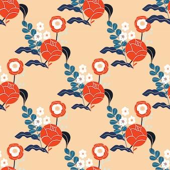 Teste padrão floral abstrato colorido. plano de fundo sem emenda