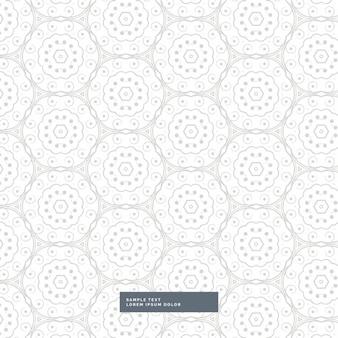 Teste padrão floral abstrato no fundo do estilo mandala