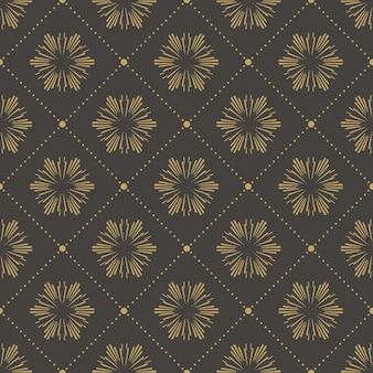Teste padrão floral abstrato para fundo de verão ou primavera. ilustração de estilo retro e criativo