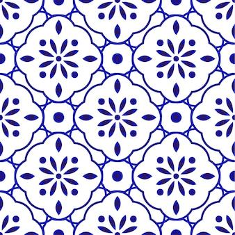 Teste padrão floral azulejo