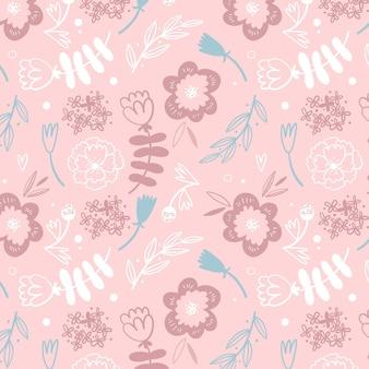Teste padrão floral clolorful