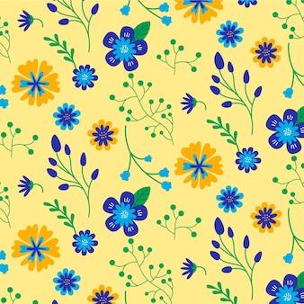 Teste padrão floral colorido