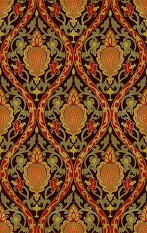Teste padrão floral colorido.