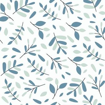 Teste padrão floral da mola sem emenda da folha