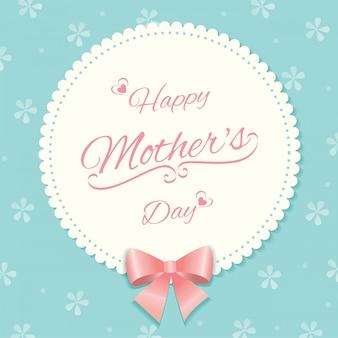 Teste padrão floral de cartão de dia das mães
