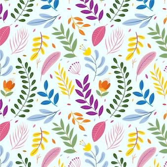 Teste padrão floral desenhada de mão