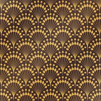 Teste padrão floral do art deco