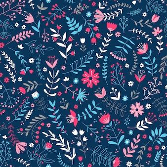 Teste padrão floral elegante em pequena flor colorida. estilo liberty. fundo sem costura floral para estampas de moda. impressão ditsy. textura perfeita. buquê de primavera.