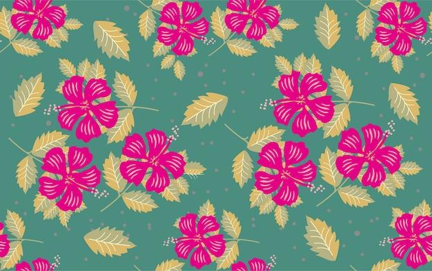 Teste padrão floral flor Vetor Premium
