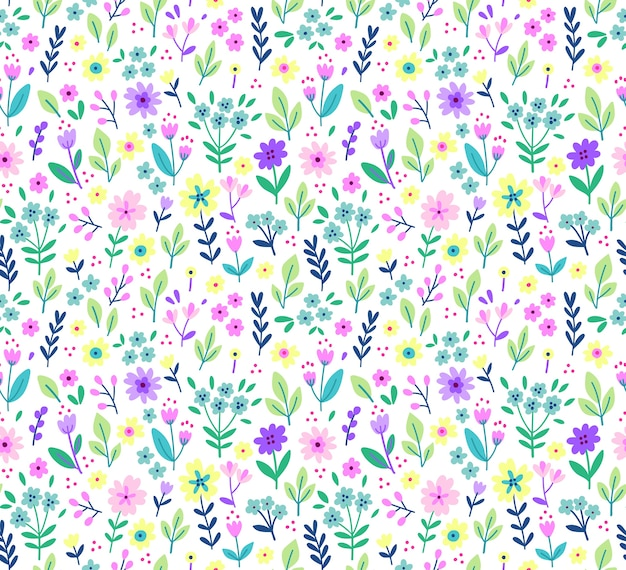 Teste padrão floral fofo na flor pequena. impressão ditsy. textura perfeita. modelo elegante para estampas de moda. impressão com pequenas flores lilás. fundo branco.