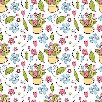 Teste padrão floral fofo na pequena flor. impressão ditsy. motivos espalhados aleatoriamente.