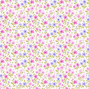 Teste padrão floral fofo nas pequenas flores. impressão servida. textura vector sem emenda. modelo elegante para impressões de moda.