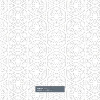 Teste padrão floral incrível sobre fundo branco