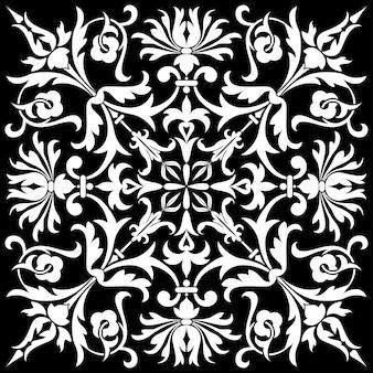 Teste padrão floral isolado, elemento de design, ilustração vetorial