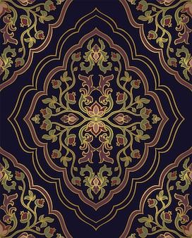 Teste padrão floral oriental.