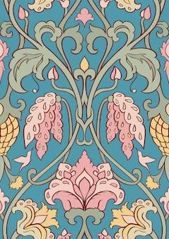 Teste padrão floral para têxteis.