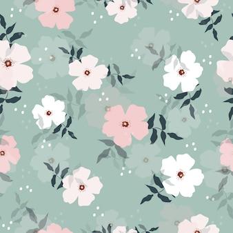 Teste padrão floral pastel doce sem emenda