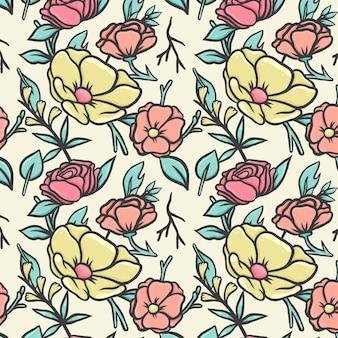 Teste padrão floral pastel