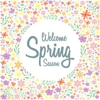 Teste padrão floral primavera ou fundo