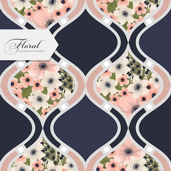 Teste padrão floral sem costura com flores