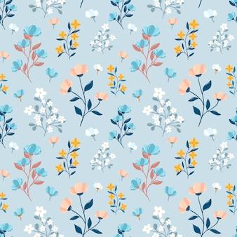 Teste padrão floral sem costura elegante. impressão servida